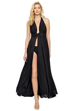 2adb998e3e81b Gottex Women's Grace Kelly Maxi Dress Swim Cover Up Black M at Amazon  Women's Clothing store