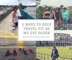 "But what peeves me the most about my ""loves"" is that as I get older the less my body wants to co-operate. It simply isn't as flexible and reactive as it used to be. So with this in mind I'm here to tell you about 5 ways to keep travel fit as you we older."