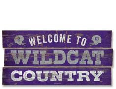 Kansas State Wildcats Country Plank Wood Sign - I would put powercats instead of the football helmets