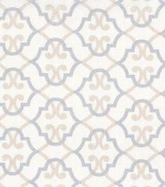 Nursery Fabric Quatrefoil On Beige