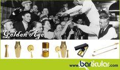 Golden Age: l'età dell'oro del bartending. Oggetti vintage in colore oro per Mixology, solo su Barticular.com. http://www.barticular.com/store/gold-copper-line