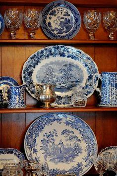 blue & white transferware