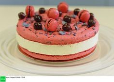 Le macaron vanille cerise de Yannick Lefort