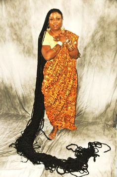 """Asha Mandela, first and only Guinness Book of World Records """"longest dreadlocks"""" female title holder. """"we have taken expert advice and made the decision to rest. Dreadlock Hairstyles, Indian Hairstyles, Black Women Hairstyles, Dread Braids, Dreadlocks, Female Dreads, Really Long Hair, Magic Hair, Natural Hair Styles"""