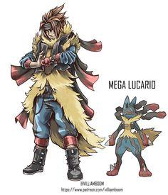 Gijinka Pokemon, Pokemon Oc, Cool Pokemon, Fantasy Character Design, Character Art, Character Ideas, Pokemon Realistic, Pokemon Human Form, Mega Lucario