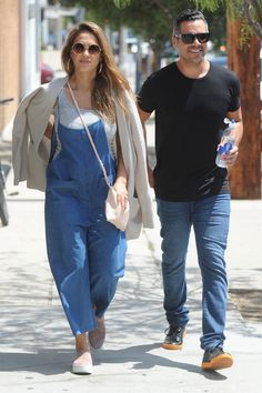 Jessica Alba's Chambray Overalls and Slip-On Sneakers Look for Less   The Budget Babe   Bloglovin'