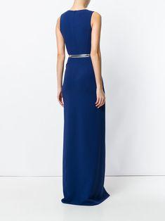 Michael Kors ruffled cascade belted gown