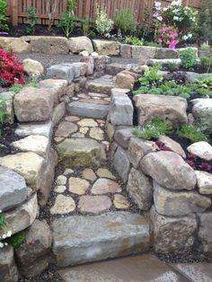 Advice, secrets, including quick guide with regards to getting the most effective end result and coming up with the optimum use of Outdoor Landscaping Ideas Backyard Walkway, Small Yard Landscaping, Garden Stairs, Hillside Landscaping, Landscaping With Rocks, Landscaping Ideas, Hillside Garden, Garden Paths, Landscape Design