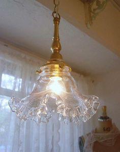 ガラスランプシェード&ペンダントライト(フランスアンティーク(フレンチアンティーク)、英国調ガラスランプシェード、ペンダント&照明器具)