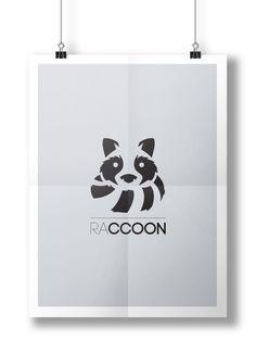 Logo desenvolvido para a marca de roupas Raccoon. #logo #design #fashion