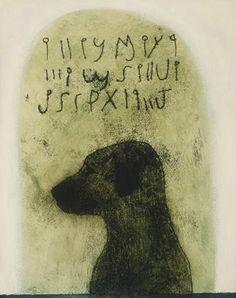 Dog Code by Brian Kershisnik.   Brownstone Gallery
