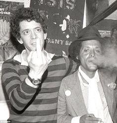 Lou Reed and Garland Jeffreys (Hail, Hail Rock 'n Roll! hit single!), New York, CBGB, (1977).