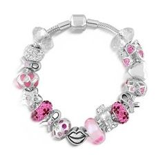 breast-cancer-awareness-jewelry (DIY  Kits For These type of bracelets are available at most craft stores )