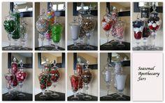 Holiday / Seasonal Apothecary Jars