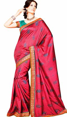 Classy Look Good Red Color #Printed #CasualSaree