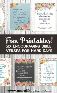 These FREE Scripture cards are great for Bible Memory Plans, Encouragement Notes to friends, Bible Verse Bookmarks, Lunchbox Notes. well, you get the idea! Bible Verses About Stress, Encouraging Bible Verses, Printable Bible Verses, Bible Encouragement, Christian Encouragement, Scriptures, Printable Quotes, Printable Bookmarks, Printable Calendars
