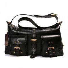 48fb33792b Beautiful Mulberry Women Roxanne Leathers Satchel Black Bag For
