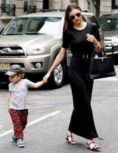 Miranda Kerr with her son