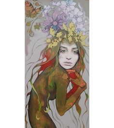 Lani Imre artist page MAIA, oil acrylic on canvas, x 2013 Canadian artist Earth Goddess, Female Characters, Fictional Characters, Canadian Artists, Figurative Art, Urban Art, Faeries, Contemporary Art, Street Art