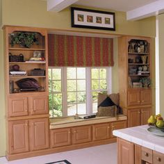 Bookcase Built-In Window Seat    As attractive as window seats are, only a few older homes with deep dormers seem to have them. Here's how to build a beautiful, custom window seat in just a couple of days using ready-made kitchen cabinets.