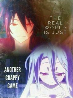 Sora and Shiro || No Game, No Life || Anime Quote