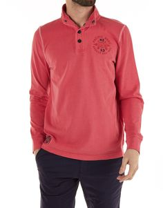 New Zealand Auckland - Polo - Rugby L/S Crimson Red