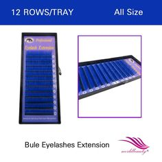[Visit to Buy] FREE SHIPPING hot sale 1 pcs/lot individual lashes blue color eyelash extension 0.07mm J/B/C/D all size available #Advertisement