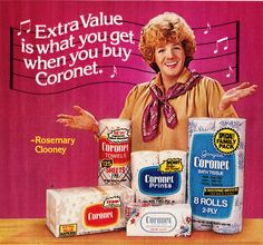 1981 Rosie Clooney had a bad perm ……………….For more classic an. 1981 Rosie Clooney had a bad p Retro Advertising, Retro Ads, Vintage Advertisements, Vintage Ads, Vintage Stuff, Bad Perm, Rosemary Clooney, Commercial Ads, Permed Hairstyles