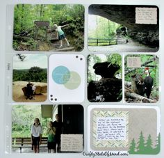 #ProjectLife Page featuring pictures from Kentucky's Natural Bridge State Park.  I used leftovers from the June #StampinUp #PaperPumpkin kit to create my journaling cards. #scrapbooking