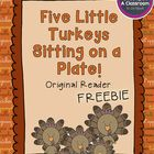 Find out what happens when five little turkeys realize they are on the Thanksgiving menu! This freebie reader is a fun little twist on the Five Little Pumpkins poem. - Some ideas on how to use it: -whole group read aloud -reading buddies -drama (have kids act out story