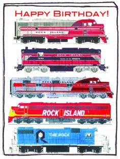 Birthday Postcard for Rock Island #Railroad Fans 1