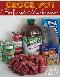 Freezer Meal Recipes: Crock-Pot Beef and Mushrooms