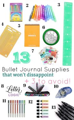 13 Bullet Journal Supplies that Won't Disappoint 3 to Avoid ⋆ The Petite Planner Bullet Journal Must Haves, Bullet Journal Tools, Bullet Journal Essentials, Bullet Journal For Beginners, Bullet Journal How To Start A, Bullet Journal Writing, Bullet Journal Layout, Bullet Journal Ideas Pages, Bullet Journal Inspiration