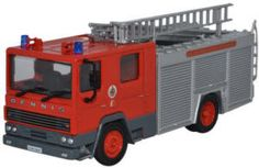 Oxford Diecast Dennis RS Fire Engine - Greater Manchester Fire Brigade - 76DN003