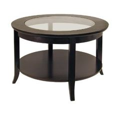 Winsome Wood Round Coffee Table, Espresso --- http://www.pinterest.com.luvit.in/7l0