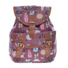 b985711fb540 Női Kis Méretű Mintás Vászon Hátizsák - Vászon - Táska webáruház - Női  táskák, Férfi