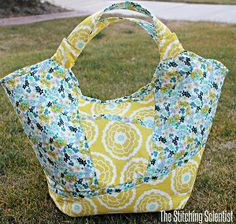 Floral Carry-All - Pick two complementary patterns to complete your bag.