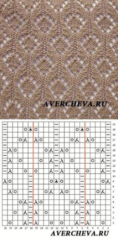 Knitting pattern with knitting script - Knitting Charts Lace Knitting Stitches, Lace Knitting Patterns, Knitting Charts, Lace Patterns, Loom Knitting, Knitting Designs, Hand Knitting, Stitch Patterns, Knitting Ideas