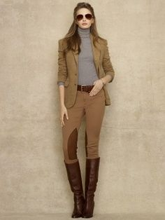 Ralph Lauren does everything so right #Ralphlauren #outfit #equestrianstyle #blazer #boots