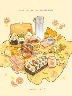Arte Do Kawaii, Kawaii Art, Kawaii Doodles, Cute Food Drawings, Kawaii Drawings, Cute Food Art, Cute Art, Aesthetic Food, Aesthetic Anime