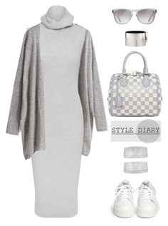 """Sweater Dress"" by youaresofashion ❤ liked on Polyvore featuring Whistles, Ash, Oliver Peoples, John Lewis, Louis Vuitton, CÉLINE and sweaterdresses"