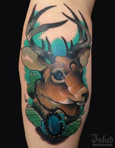 Beautiful stag by Phil Wilkinson #stag #tattoo #tattoos #ink #Inked #stag #animal #InkedMagazine