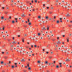 Wildwood Organic 1243-06 Red Wildflower by Cloud 9