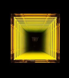 Ivan Navarro Try, 2010 neon lights, wooden box. Fred Instagram, Neon Rosa, Sculpture Art, Sculptures, Infinity Mirror, Image Film, Fractal, Decoration Originale, Mellow Yellow