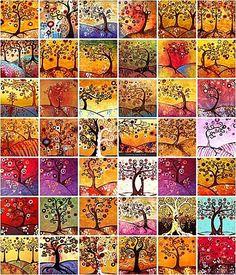 Des arbres à la manière de Natasha Wescoat: