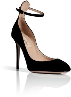 Stunning Women Shoes, Shoes Addict, Beautiful High Heels    VALENTINO | Black Suede High Heeled Pumps