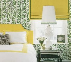 Green and yellow bed