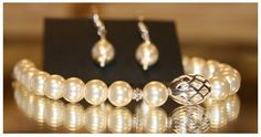 Slideshow image Beautiful One, Pearl Necklace, Drop Earrings, Pearls, Sterling Silver, Gifts, Tutorials, Collections, Image