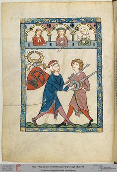 Codex Manesse, Johann von Ringgenberg, Fol 190v, c. 1304-1340