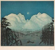 Talveöö Rondanes. .Harald Sohlberg